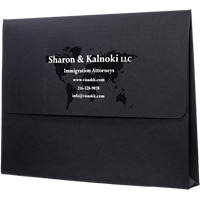 Multi-color Foil Stamped Presentation Folder with Reinforced Edges