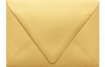 A6 Contour Flap Envelopes Gold Metallic