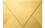 A7 Contour Flap Envelopes Gold Metallic