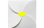 2.5 x 1.375 Oval Labels, 21 Per Sheet Fluorescent Yellow
