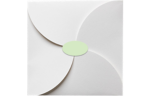 2.5 x 1.375 Oval Labels, 21 Per Sheet Pastel Green