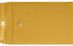 7 1/2 x 10 1/2 Clasp Envelopes 28lb. Brown Kraft