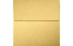 4 x 4 Square Envelopes Gold Metallic