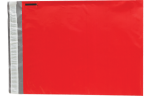 12 x 15 1/2 Plastic Mailers Holiday Red