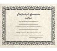 8 1/2 x 11 Certificates - Appreciation