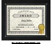 10 x 11 3/4 Certificate Frame w/ Easel