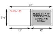 Short Hinge Landscape Certificate Holder