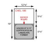 Certificate Holder  - Landscape Orientation w/ Mounting Board (Horizontal)