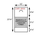 Certificate Holder  - Landscape Orientation w/ Fold Notch