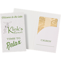 2-Color Card Holder with Rounded Pocket