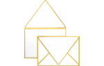 A1 Contour Flap Envelopes Gold Seam
