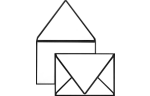 A1 Contour Flap Envelopes Black Seam