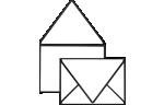 A7 Contour Flap Envelopes Black Seam