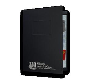 "9 x 12 Presentation Folders - One Pocket (Left) w/ Document Attachment Tab & 1"" Double Scored Spine   Folders.com"
