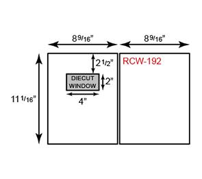 Report Covers - Two Piece w/ Window ( 8 9/16 x 11 1/16) | Folders.com