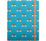 6 x 8 Hardbound Journal - Blue, Rainbows