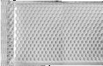 6 1/2 x 10 1/2 - LUX Matte Metallic Bubble Mailer Silver