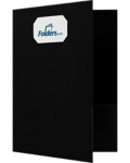 9 x 12 Presentation Folders - Standard Two Pocket w/ Front Cover Center Card Slits