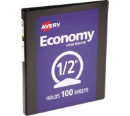 "1/2"" Economy View Poly Binder w/Round Rings"