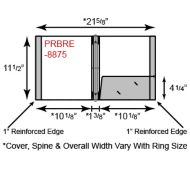 Paper Binder - 3 Ring w/ One Pocket & Reinforced Edge