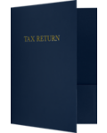 9 x 12 Presentation Folders - Standard Two Pocket w/ Gold Foil Tax Return