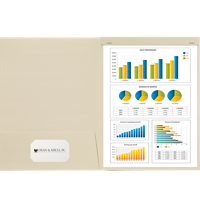 9x12 Presentation Folder with Staple Tab - Optional Window