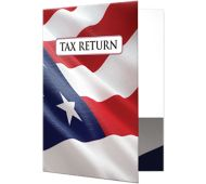 9 x 12 Presentation Folders - Patriotic Flag