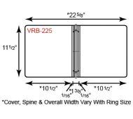 Vinyl Binder - 3 Ring w/ French Calf