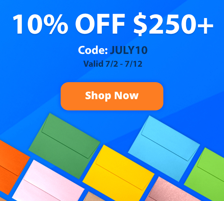 10% OFF $250+ - Code: JULY10 - Valid: 7/2 - 7/7