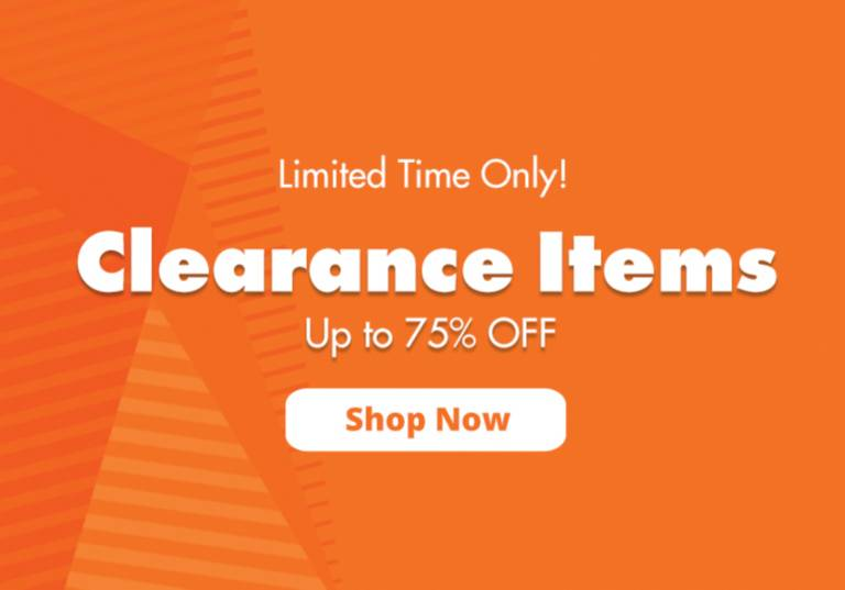 Clearance Items - Up to 75% OFF!
