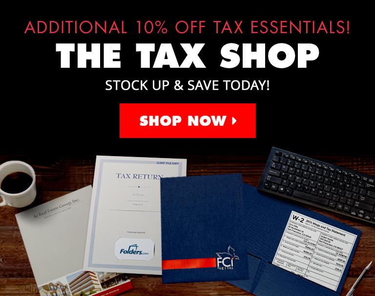 The Tax Shop | Folders.com