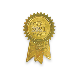 1 1/4 x 2 Embossed Foil Seal Gold 2021